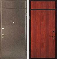 образцы входных металлических дверей с верхней вставкой